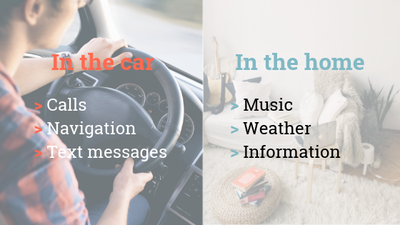 In-car vs at-home voice use cases