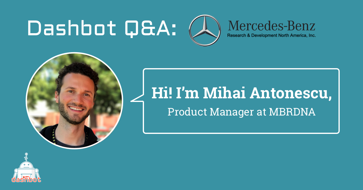 Meet Mihai Antonescu, Product Manager at Mercedes-Benz Research & Development North America